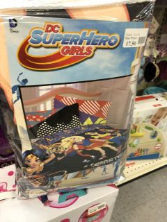 Super Hero Super Girls Twin Bedding NEW at Super Buys Retail Outlet