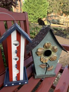 (2) BIRD HOUSES!! Great Gifts! NEW!!!both One Price
