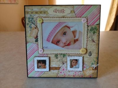 Picture frame for baby. So sweet!