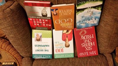 Excellent Condition Joyce Meyer & Max Lucado Hardbacks Assorted Inspirational Lot of 6. !