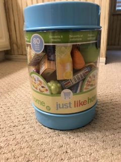 NEW unopened- play food. 80 pieces