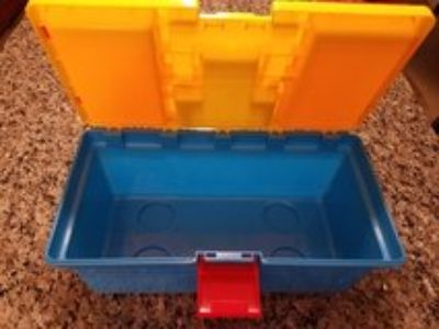 Kids colorful crafts - tool box