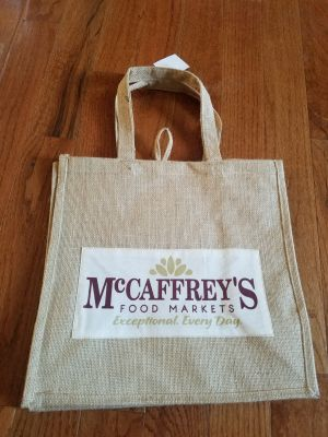 NEW ORGANIC Reusable Tote Bag (2) Photos attached