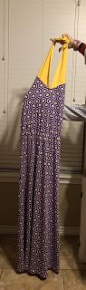 Mud Pie LSU Brand New With Tags Maxi Spirit Dress. Great For A Christmas GIFT! Size Medium