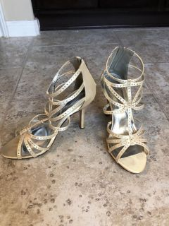 Strappy Dress Sandals (Canary Yellow)