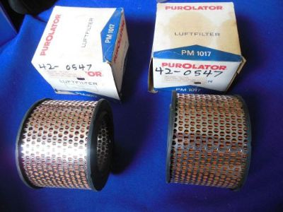 Sell NORS Purolator Air Filters (2) 1963-65 BMW 1600 1800 &1969-73 Opel GT PM1017 motorcycle in North Haven, Connecticut, United States