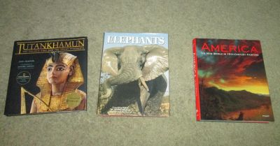 3 Large Hard Cover Coffee Table Books! Excellent quality and Condition