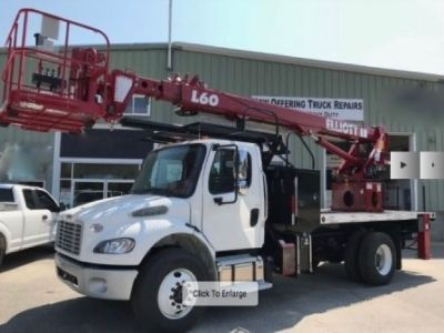 Sign Crane Truck for Sale Under CDL ! 2018 Elliott L60R Mounted On a 2018 Freightliner M2 Chassis