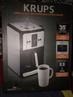 New in the box 12 cup Krups coffee maker