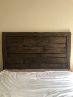 Handmade wooden headboard
