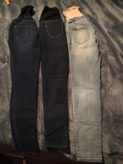 3 pairs of maternity skinny jeans