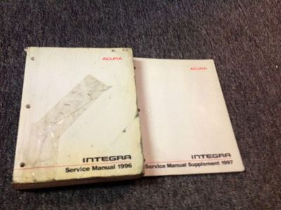 Sell 1996 ACURA INTEGRA Service Repair Shop Workshop Manual Set W Supplement OEM motorcycle in Sterling Heights, Michigan, United States, for US $44.99