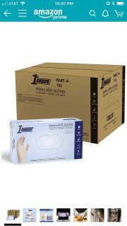 1st Choice Ivory Latex Disposable Gloves