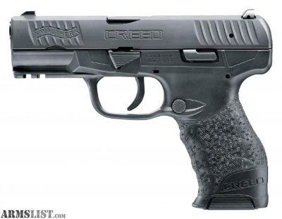 For Sale: Walther Arms 2815517 Creed Double 9mm 4 10+1 Black