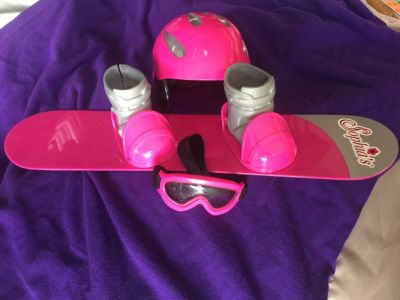 18 Doll Snowboarding Set
