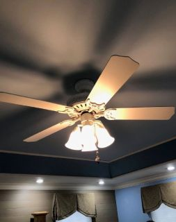 Hunter white fan w/frosted lights