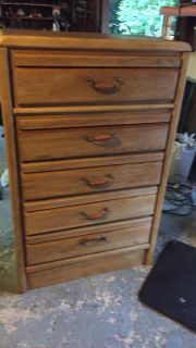 Tall light color refinished dresser. I have 5 other dressers and 3 nightstands available