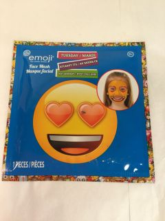Emoji Tuesday at least it s not Monday kids face mask