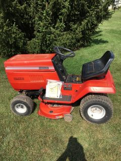 "Montgomery ward all metal tractor 38"" cut complete needs serviced"