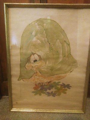 Vintage turtle art