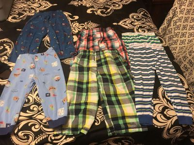 6 pair of Size 24 month pajama pants for boys. $4 for all