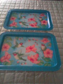 HUMMINGBIRDS TRAYS **USE OR DECOR DISPLAY**