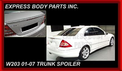 Purchase W203 C-CLASS BENZ TRUNK WING BACK SPOILER LID C230 C350 WING REAR FIBERGLASS NEW motorcycle in North Hollywood, California, US, for US $89.00