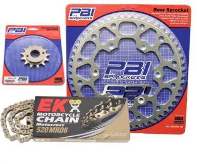 Sell PBI MRD Gold 12-47 Chain/Sprocket Kit for Honda XR250R 1984-1985 motorcycle in Hinckley, Ohio, United States, for US $134.54
