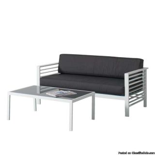 Patio Sofa and Coffee Table