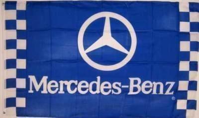 Find MERCEDES BENZ Emblem Flag 3x5' Checkered Blue Banner jwx* motorcycle in Castle Rock, Washington, US, for US $18.95