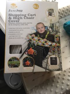 J is for Jeep Shopping Cart/High Chair Cover NIB
