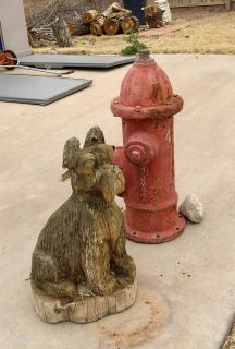 Carved Dog & Hydrant