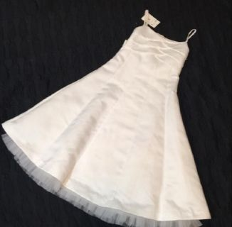 Girl's Bonnie Jean Classic White Flower Girl or Communion Dress, Size 8