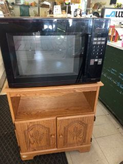 Microwave and Cart