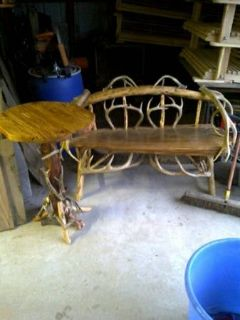 Custom built log furniture (Lumberton)