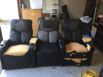 Powered home theater chairs--need recovering