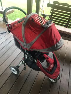 Red Baby Jogger City Mini Jogging Stroller
