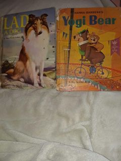Vintage Yogi Bear and Lad The Dog children's Books