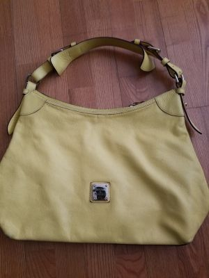 DOONEY & BURKE large yellow leather bag