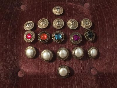 17 preowned button covers