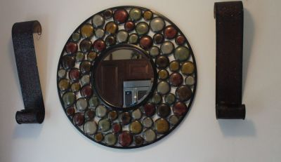 Beautifil Mirror with sconces/Negotiable