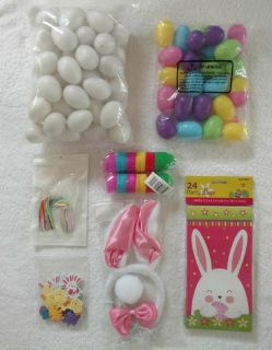 Easter Eggs, Paper Bag and Bunny Costume