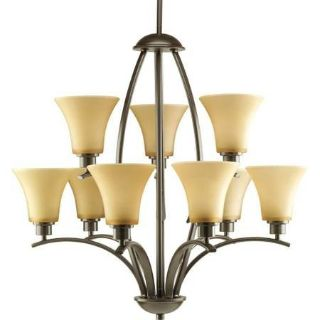 9-Light Antique Bronze Chandelier