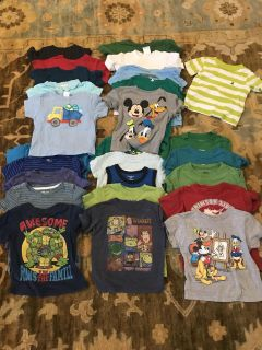 Boys 2T Short Sleeve Shirts (all play condition - no holes/rips) (lot of 26) $10