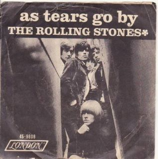 The Rolling Stones As Tears Go By 45 Record with Sleeve