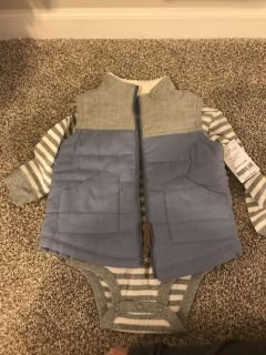 NWT Carters Vest and Striped Onesie