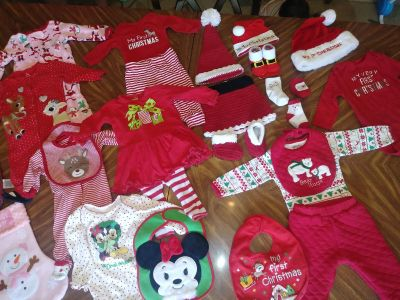 HUGE baby's 1st Christmas Bundle. EUC. Ppu off hwy 98. Meets winn dixie off blue angel. 10% when you buy more than one bundle.