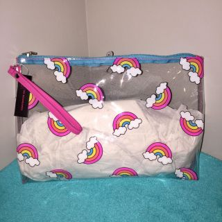 Extra Large Hard Plastic Cosmetic Bag // Clutch. (( Brand-New With tags. ))