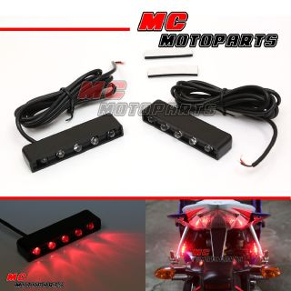 Buy foot peg LED red signal light for your bike US $16.80
