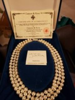 Camrose & Kross 3 strand pearl necklace